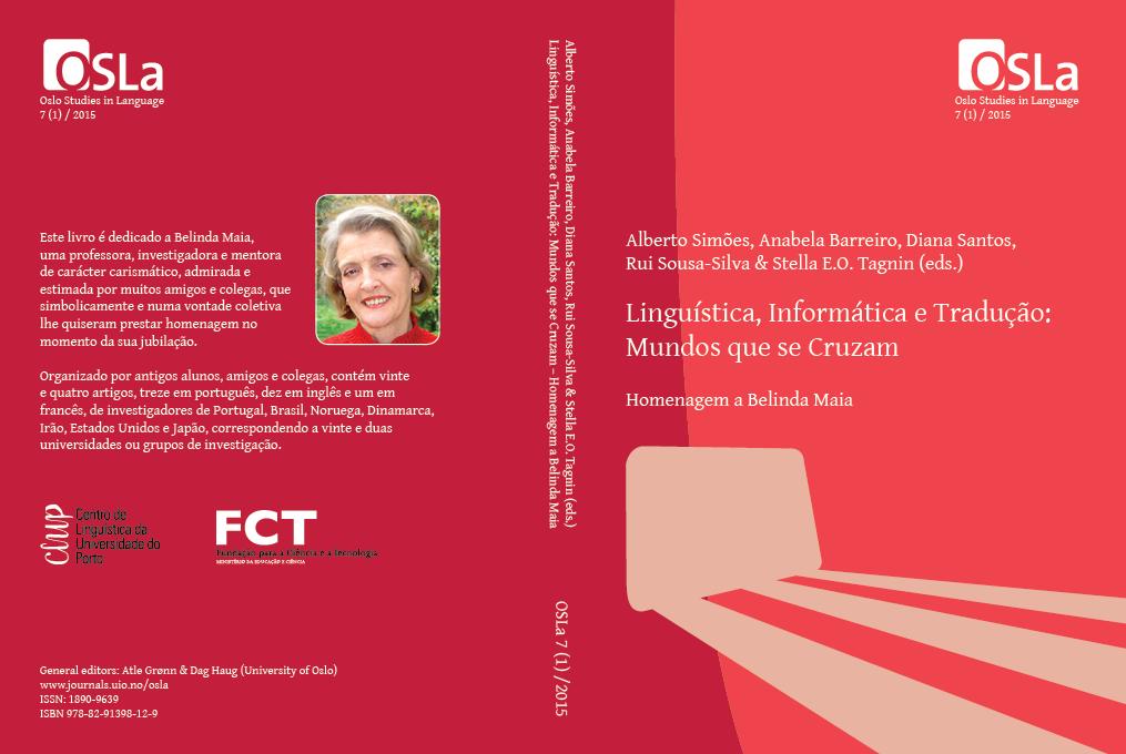 View Vol. 7 No. 1 (2015): Linguística, Informática e Tradução: Mundos que se Cruzam