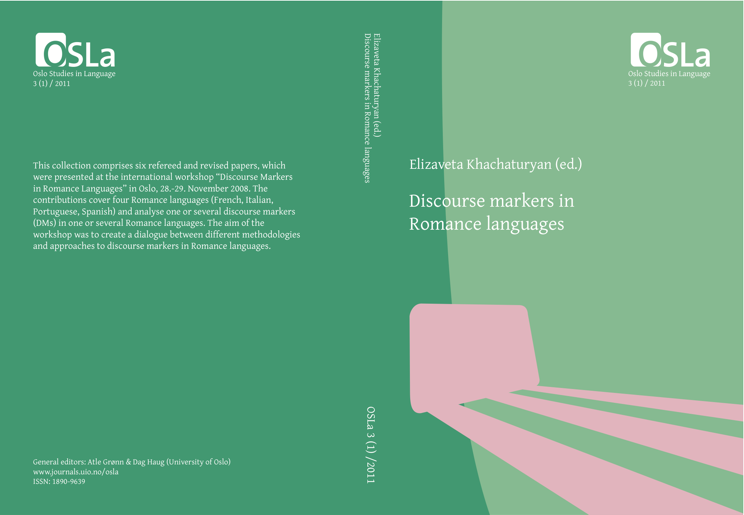 View Vol. 3 No. 1 (2011): Discourse markers in Romance languages