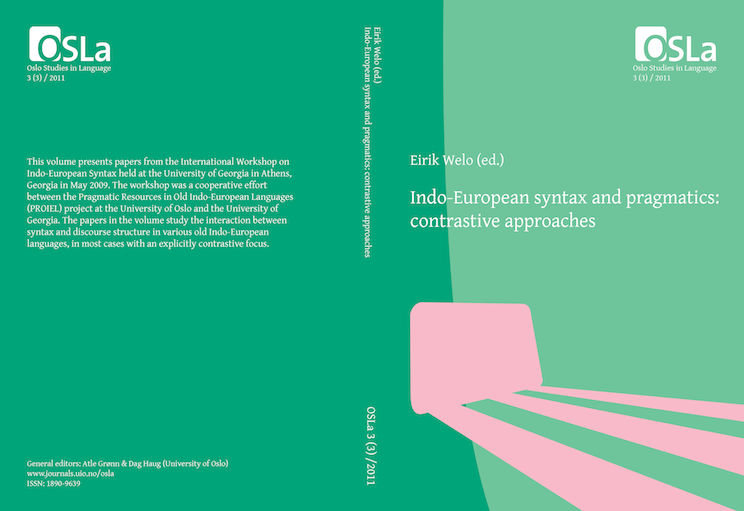 View Vol. 3 No. 3 (2011): Indo-European syntax and pragmatics: contrastive approaches