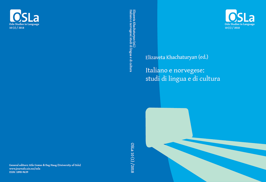 View Vol. 10 No. 1 (2018): Italiano e norvegese: studi di lingua e di cultura