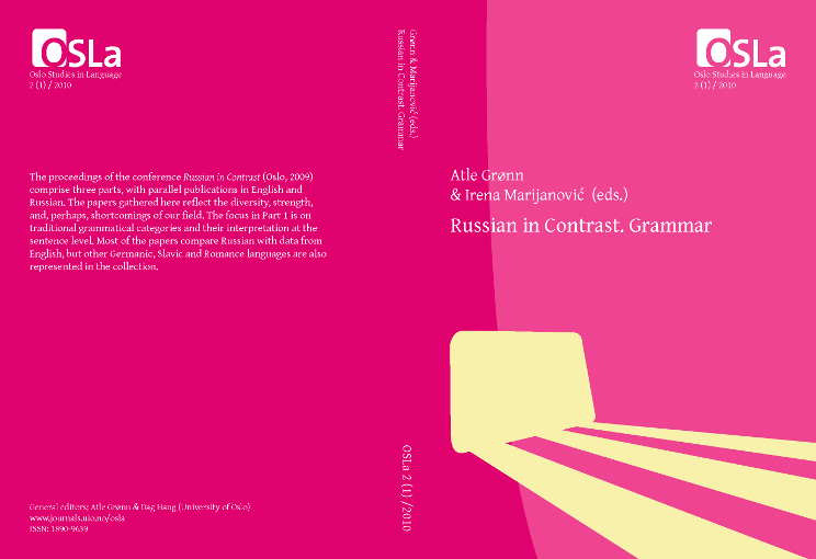 View Vol. 2 No. 1 (2010): Russian in Contrast. Grammar