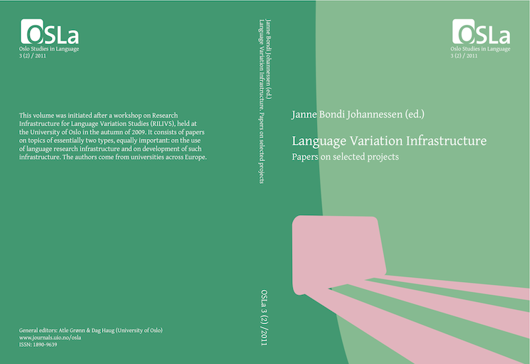 View Vol. 3 No. 2 (2011): Language Variation Infrastructure. Papers on selected projects