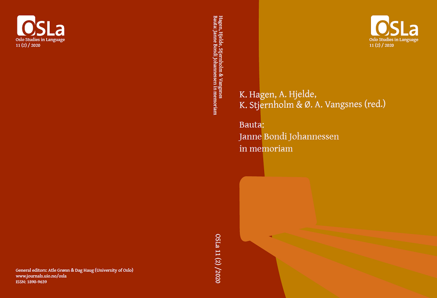 Hagen, Hjelde, Stjernholm & Vangsnes (red.) Bauta: Janne Bondi Johannessen in memoriam