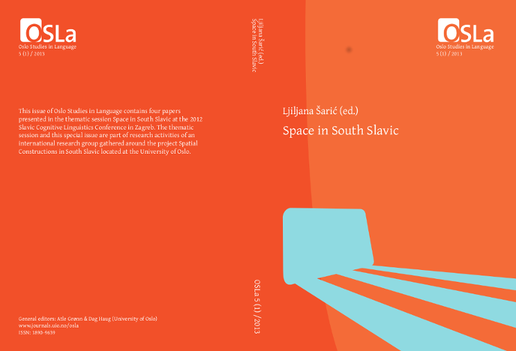 View Vol. 5 No. 1 (2013): Space in South Slavic
