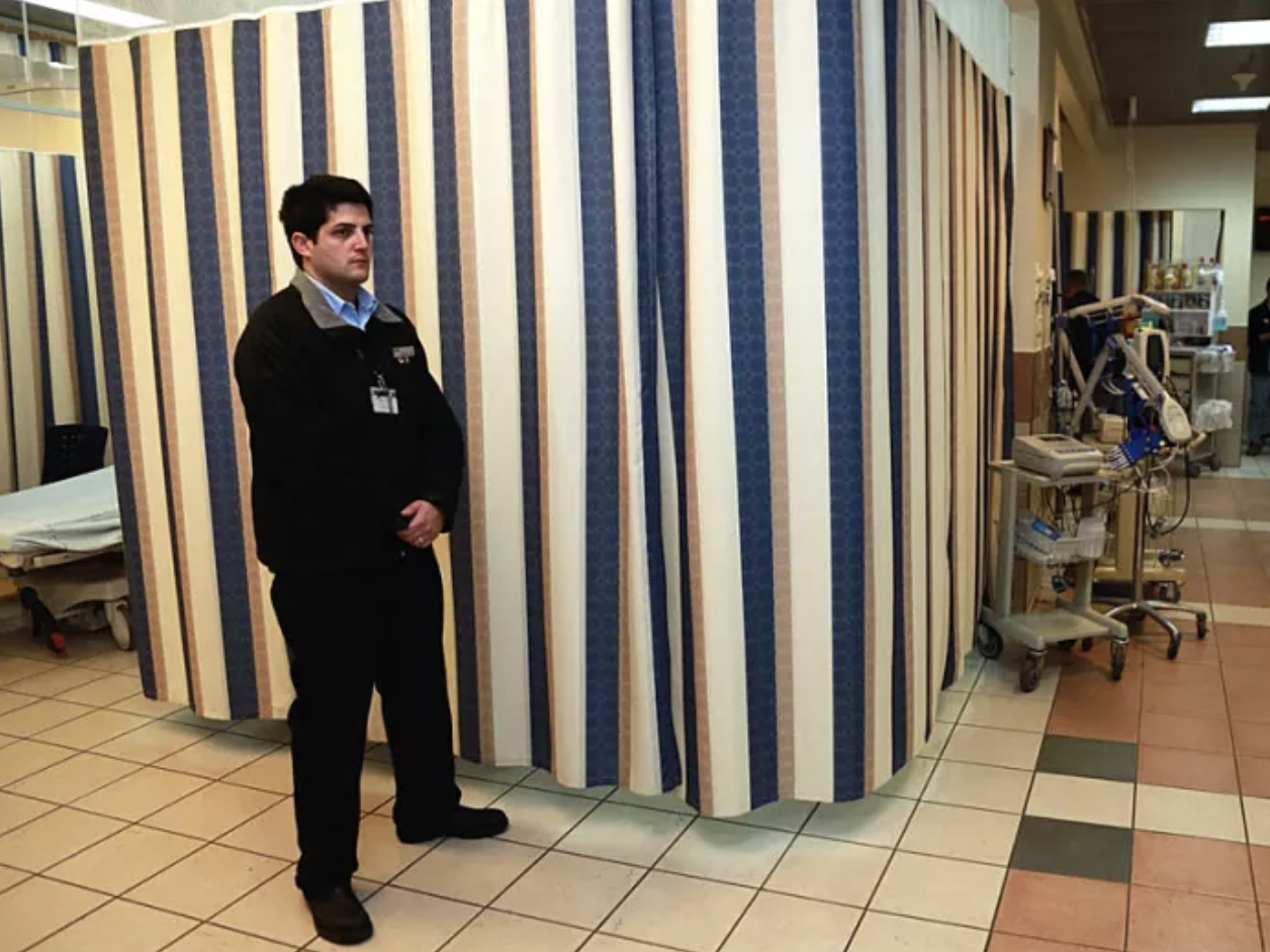 . Security Guard at hospital Taken by - Eran Gilvarg (Walla News) https://news.walla.co.il/item/2638879