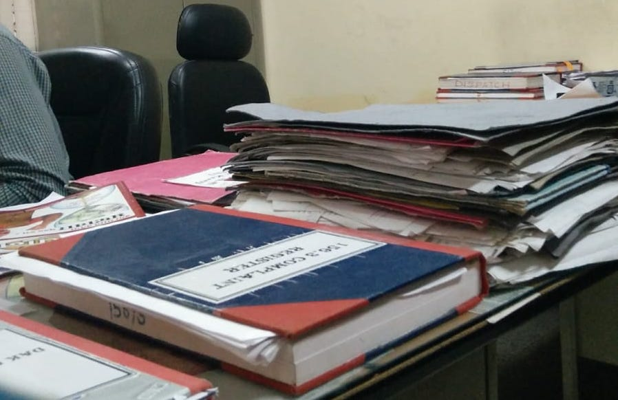 paper-based registers police india